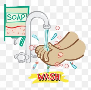 Clean Hand Cliparts - Hand Washing Hygiene Soap Clip Art PNG