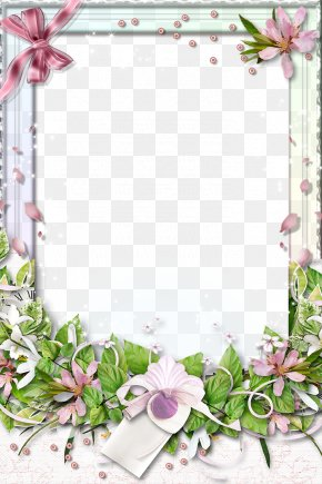 Flowers Frame Material PNG