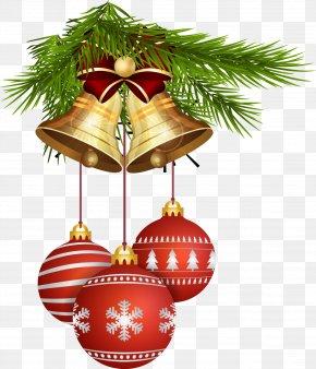 Christmas Bells And Christmas Balls - Christmas Tree New Year Christmas Ornament Clip Art PNG