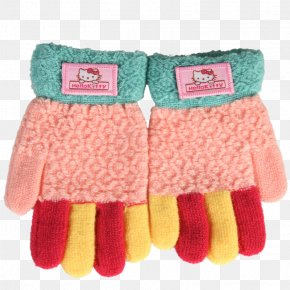 Hello Kitty Gloves Mixed Colors - Hello Kitty Glove Cat PNG