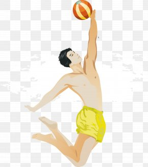 Beach Volleyball - Beach Volleyball Sport Illustration PNG