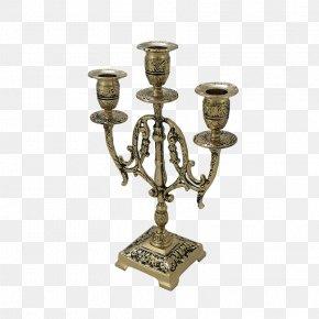 Brass - Brass Candlestick Lighting Candelabra PNG