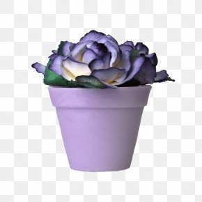 Flower Pot - Cut Flowers Lilac Rose Violet PNG