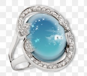 Sapphire Ring Frame - Ring Picture Frame Photography PNG