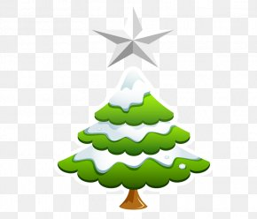 Cartoon Christmas Tree - Christmas Tree Santa Claus Clip Art PNG