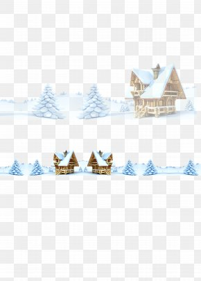 Snow House Material - Snow Santa Claus Christmas PNG