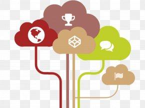 Color Cloud - Cloud Computing Tree Data Presentation PNG