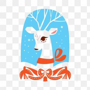 Snow Deer - Deer Snow Illustration PNG