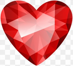 Diamond Heart Transparent Clip Art Image - Diamond Clip Art PNG