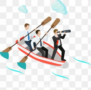 Rowed Business People Vector PNG