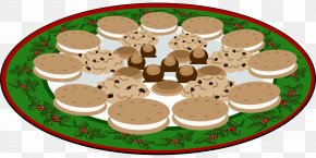 Tasty Treats - Chocolate Chip Cookie Christmas Cookie Black And White Cookie Clip Art PNG