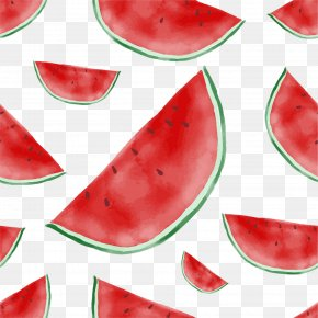 Vector Hand-painted Cartoon Watermelon - Euclidean Vector Fruit Computer File PNG