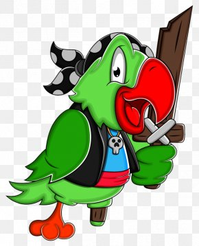 Green Parrot - Parrot Piracy Clip Art PNG