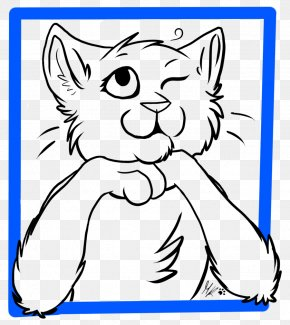 Cat - Whiskers Cat Line Art Drawing Clip Art PNG