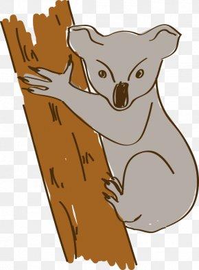 Hand-painted Cartoon Koala - Australia Koala Cartoon PNG