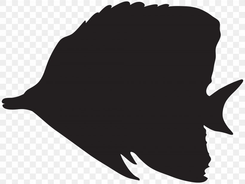 Mummy Pig Silhouette Fish Clip Art, PNG, 8000x6008px, Silhouette, Art, Barreleye, Black, Black And White Download Free