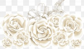 White Roses - Rose Flower Stock Illustration PNG