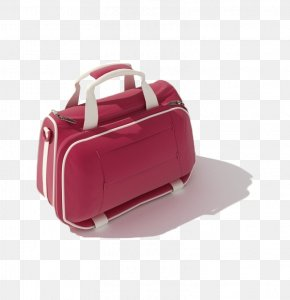 Red Hand Luggage - Bag 3D Modeling Autodesk 3ds Max 3D Computer Graphics PNG