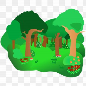 Green Forest Trees Clipart - Rainforest Free Content Clip Art PNG