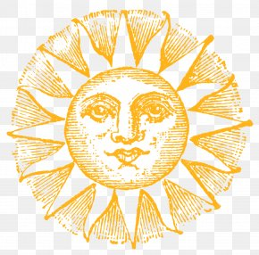 Sunshine - Antique Drawing Clip Art PNG