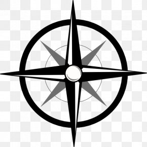 Blank Compass - North Compass Rose Clip Art PNG