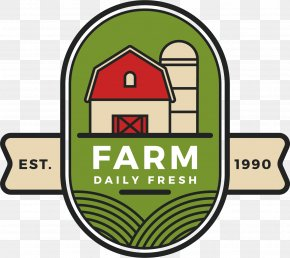 Farm Label Vector - Logo Farm Illustration PNG