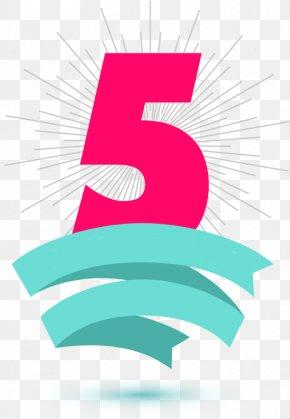 5 Anniversary - Text Brand Logo Clip Art PNG