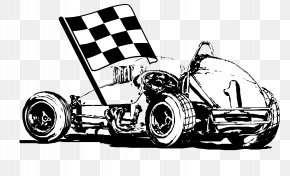Vector Black And White Racing Flags - Black And White Vecteur Flag PNG