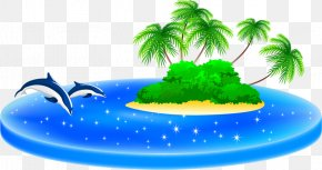 Blue Island - Royalty-free Illustration PNG