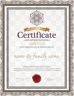 European Complex Pattern Border Certificate - Template Academic Certificate Résumé Microsoft Word PNG