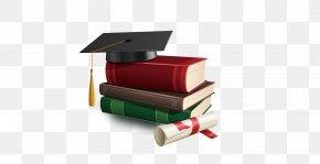 Book - Graduation Ceremony Square Academic Cap Diploma Clip Art PNG