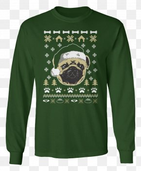 Ugly Pug - T-shirt Christmas Jumper Hoodie Pug Sleeve PNG