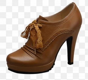 Dark Brown Bud Ribbon Ankle Boots - Boot Shoe High-heeled Footwear Leather Stiletto Heel PNG