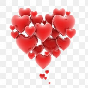 Floating Hearts - Heart Love Romance Clip Art PNG
