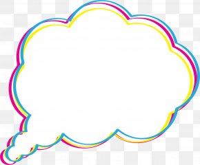 Simple And Colorful Dialog Box - Dialog Box Cloud Dialogue PNG