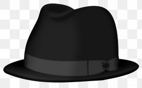 Black Fedora Hat Clipart Picture - Product Fedora Design PNG