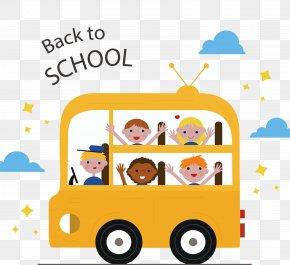 Happy School Kids - Bus School Child Euclidean Vector PNG