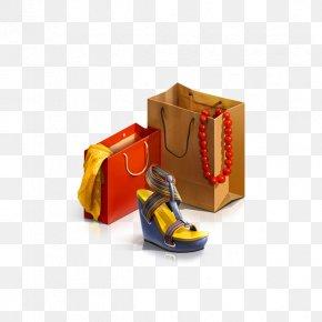 Cartoon Shopping Bag - Online Shopping Thunderstorm E-commerce PNG