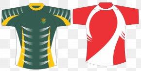 Rugby - T-shirt Sportswear Jersey Sleeve Uniform PNG