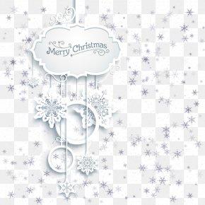 Hanging Christmas Card Frame Element PNG
