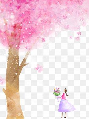 Petal,Cherry Blossoms - Cherry Blossom Cartoon Flower PNG