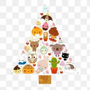 Triangle - Kawaii Christmas Christmas Tree Art Illustration PNG