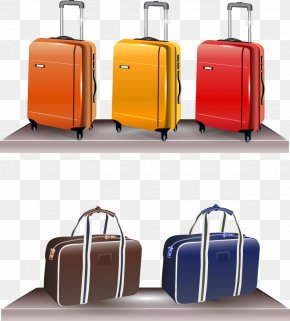 Vector Suitcase - Hand Luggage Suitcase Euclidean Vector PNG