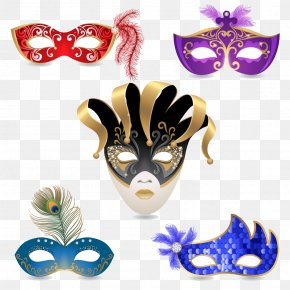 All Kinds Of Feather Masks - Carnival Of Venice Mask Stock Photography Masquerade Ball PNG