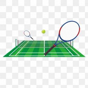 Cartoon Tennis Court - Tennis Centre Racket Clip Art PNG