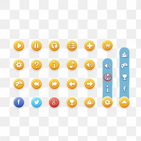 Game UI Button - Graphical User Interface Button Game PNG