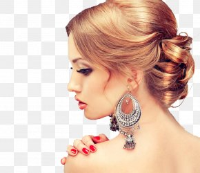 Jewelry Model - Earring Beauty Parlour Model Hairstyle PNG