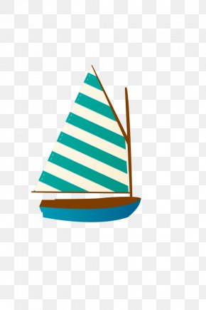 Hand-painted Sailing - Sailing Ship Cartoon Clip Art PNG