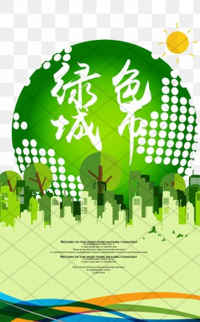 Green City - Poster Graphic Design Environmental Protection PNG