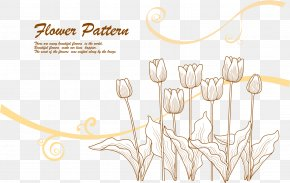 Vector Lines Tulip Flower 2 - Line Euclidean Vector Flower PNG